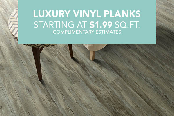 Luxury Vinyl Planks starting at $1.99 sq.ft.!  Complimentary estimates available this month at Abbey Capitol Floors & Interiors in Olympia!